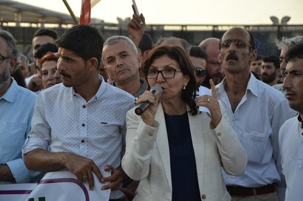 HDP'li grup ile polis arasında arbede galerisi resim 3