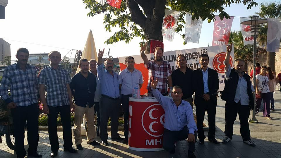 MHP Esnafa Bayrak Dağıttı 5