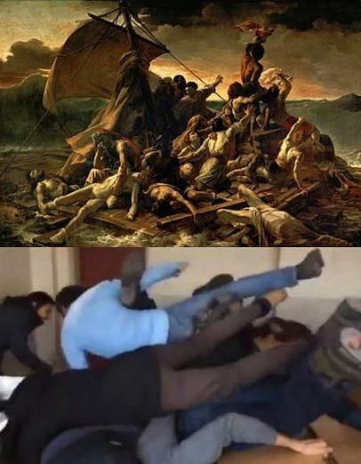 Ünlü tabloları canlandıran liseliler sosyal medyayı salladı! 10