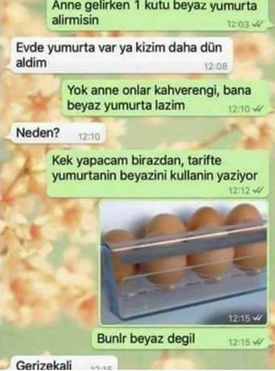 Komik WhatsApp mesajları 1