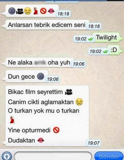Komik WhatsApp mesajları 23