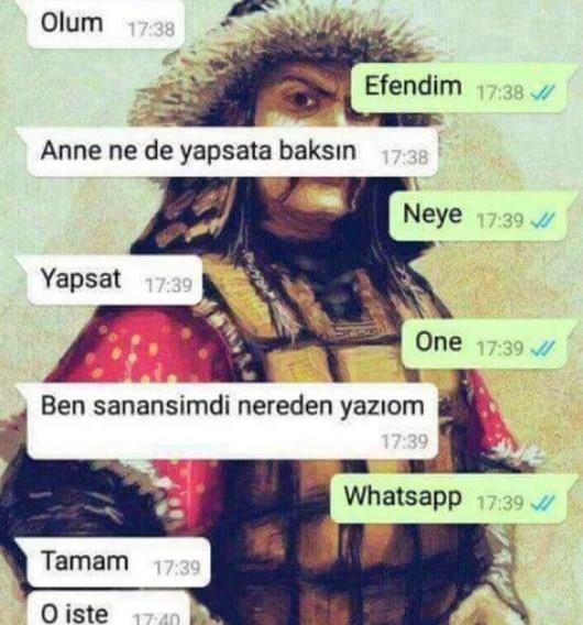Komik WhatsApp mesajları 3