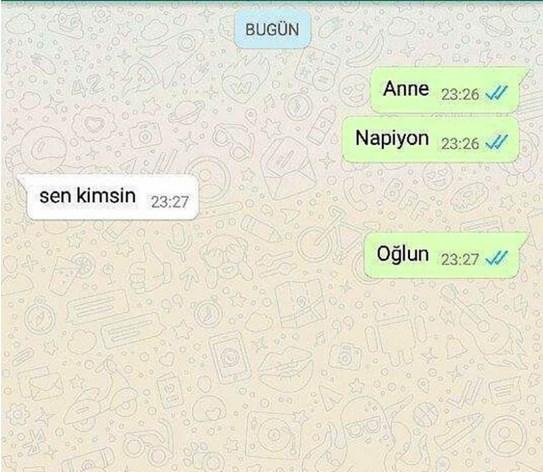 Komik WhatsApp mesajları 5
