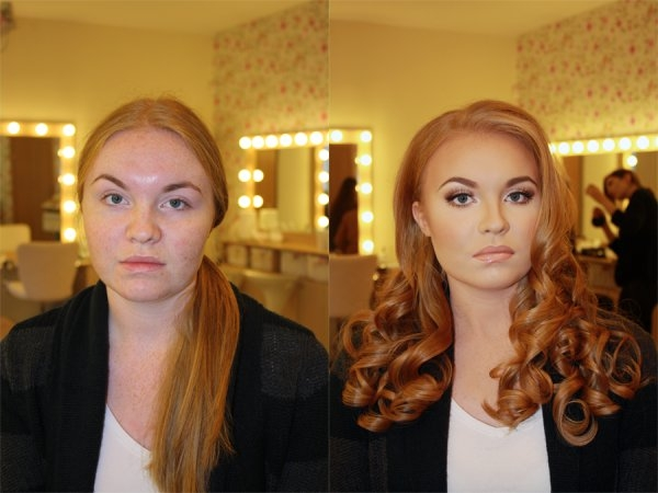Kadınların makyaj öncesi ve sonrası halleri... 2
