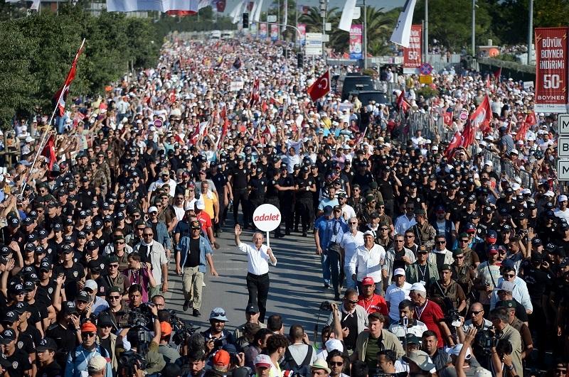 'Adalet' Yürüyüşü ve  Maltepe mitingi 1