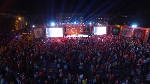 Darıca'da on binler nöbette buluştu 1