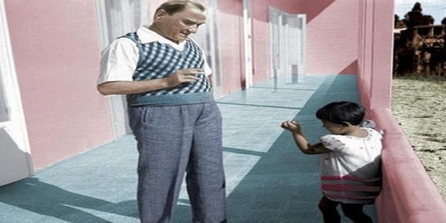 Atatürk'ün çocuk sevgisi