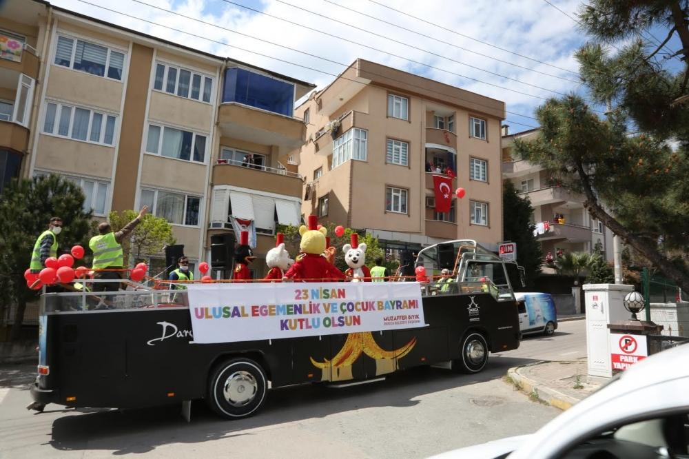 Darıcalı Çocuklar Bayramı,23 Nisan Moral Otobüsü İle Kutladı 1