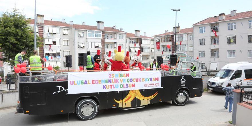 Darıcalı Çocuklar Bayramı,23 Nisan Moral Otobüsü İle Kutladı