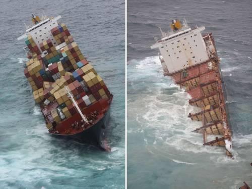Dev gemi kağıt gibi yırtıldı 3