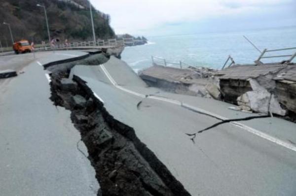 Karadeniz Sahil Yolu çöktü 2