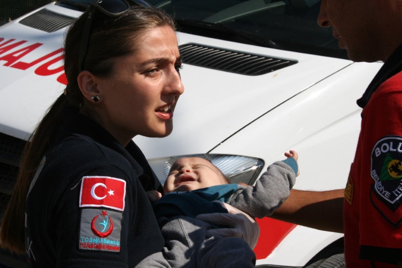 6 aylık bebek ölümden döndü