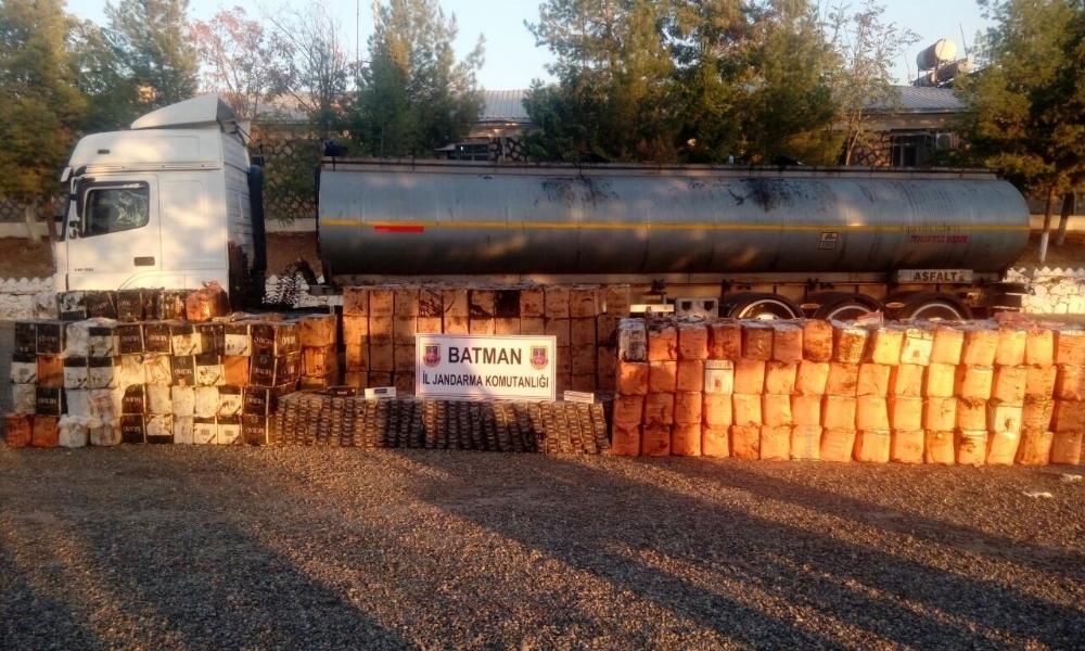 Tankerden 500 bin lira değerinde kaçak sigara çıktı