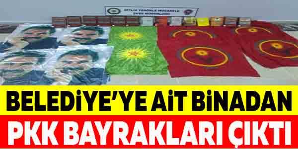 Belediyeye ait binadan PKK bayrakları çıktı! Toplantıda yakalandılar