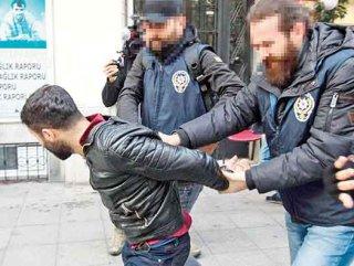 Firari cinayet zanlısı HDP protestosunda yakalandı