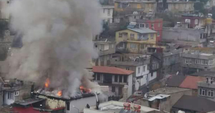 Kahramanmaraş'ta öğrenci yurdunda yangın
