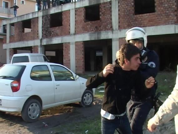 Sakarya'da amatör maç sonrası sokaklar karıştı