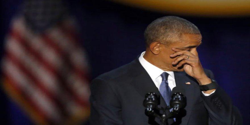 ABD Başkanı Obama, Veda Konuşmasında Göz Yaşlarına Hakim Olamadı