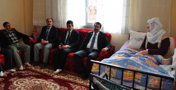 Başkan Yaman hasta ve yaşlıları ziyaret etti