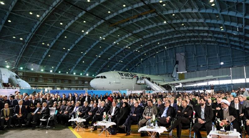 İran'ın yeni uçağı İmam Rıza Türbesi'ni tavaf etti