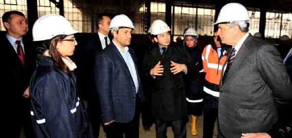 Bakan Ergün, Bilim Merkezi inşaatını inceledi