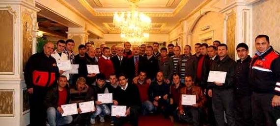 27. itfaiye grubu da sertifika aldı