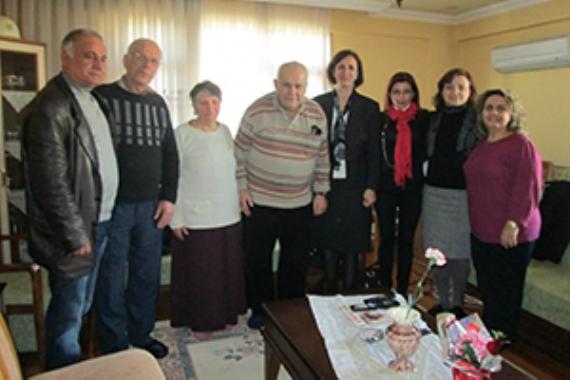 CHP'liler faciadan kurtulanları evinde ziyaret etti