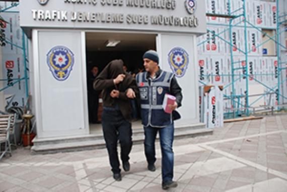 Kamyon hırsızları işbaşında yakalandı