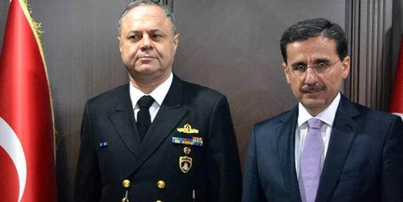 Yeni donanma komutanı valiliği ziyaret etti