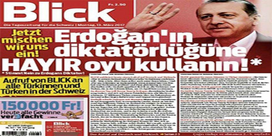 İsviçre'de türkçe manşetli Blick gazetesi
