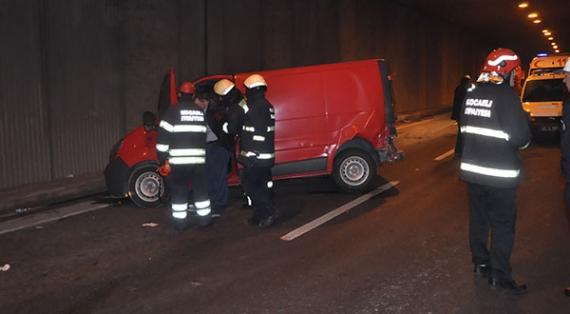 SEKA tünelindeki kazada 5 kişi yaralandı