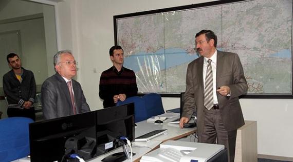 Kaymakam'dan genel müdür Bayram'a ziyaret