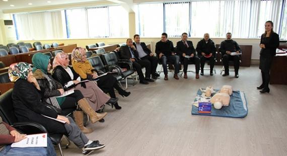 Belediye personeline ilkyardım eğitimi