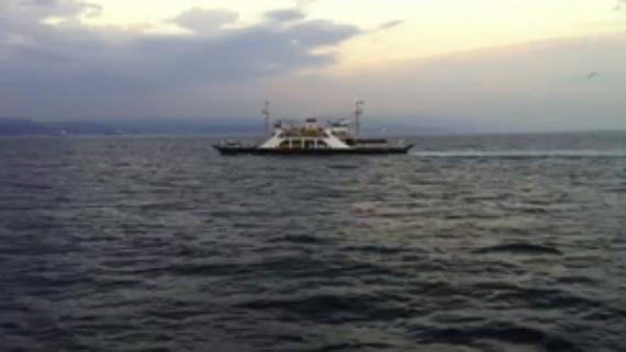 Fırtına gemi yolcularını korkuttu