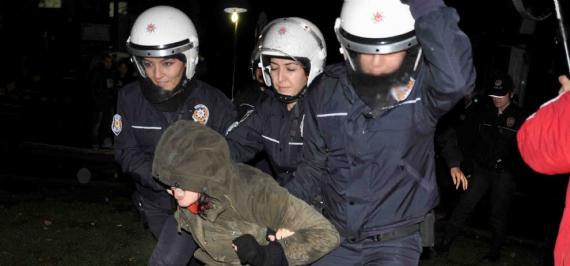Çadır kurmak isteyenlere polis engeli