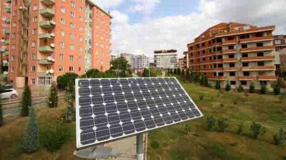 Barış Vadisi parkı güneş enerjisi aydınlatıyor