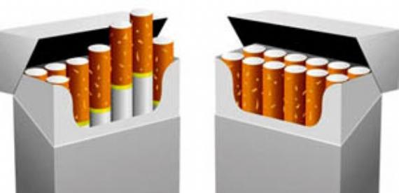 Sigara paketlerinde bunu da göreceğiz