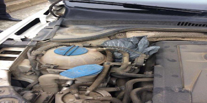 Rize'de aranan otomobilin motorunda 5 tabanca bulundu