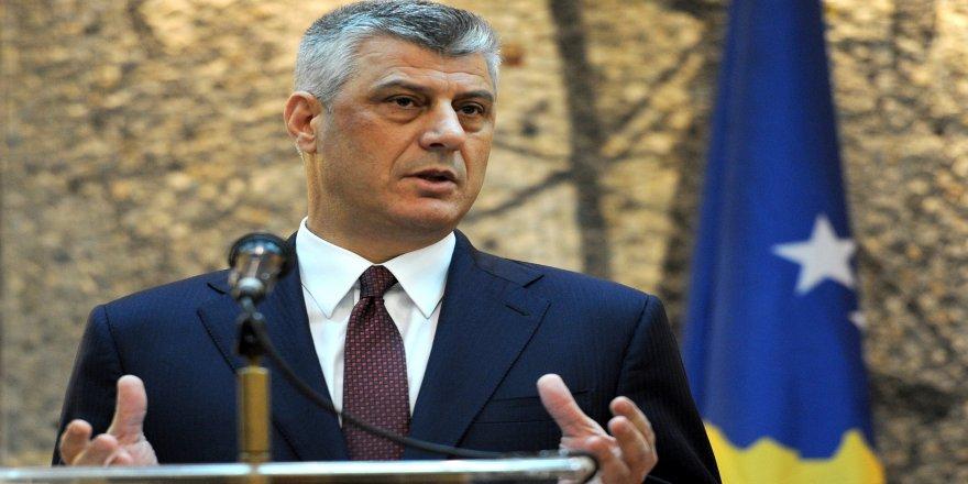 Kosova Cumhurbaşkanı Thaçi'den birleşme sinyali