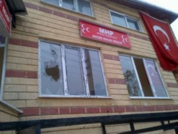MHP'ye molotoflu saldırı!