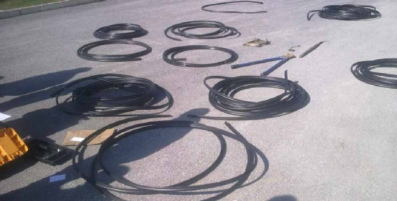 Kablo hırsızları yakalandı!