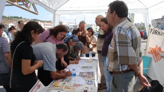 İP'ten savaş karşıtı protesto!
