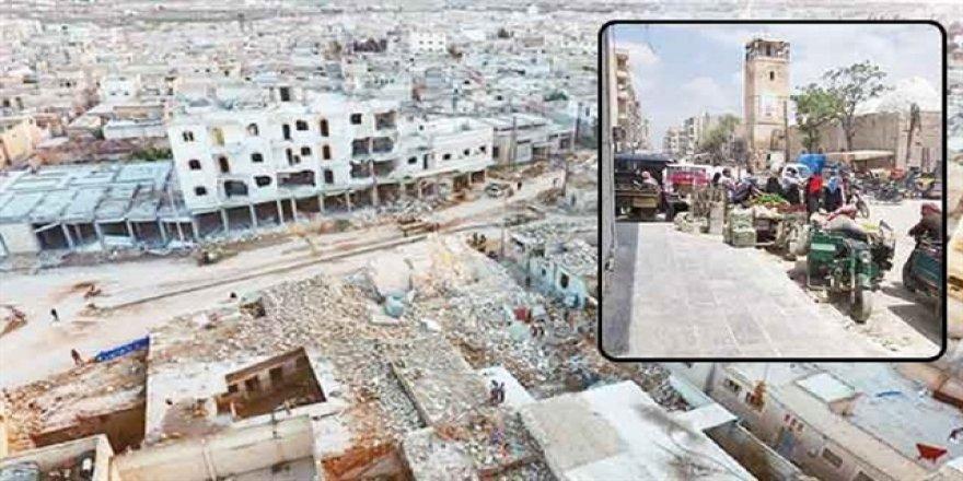 El-Bab'da pazarlar kurulmaya başladı