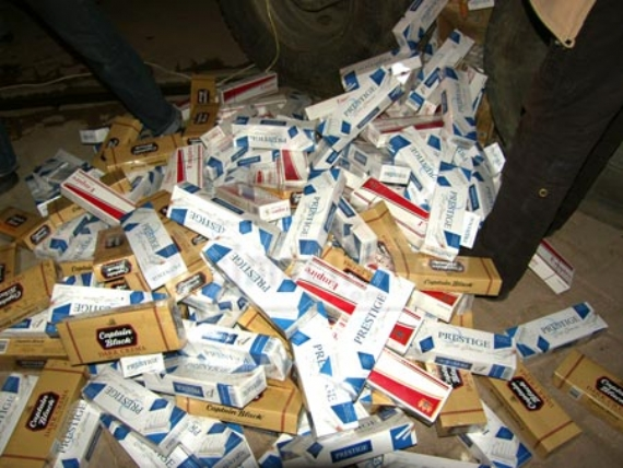 50 bin paket sigara ele geçirildi!