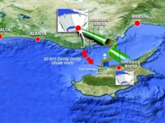 Türkiye'den Kıbrıs'a su akacak!
