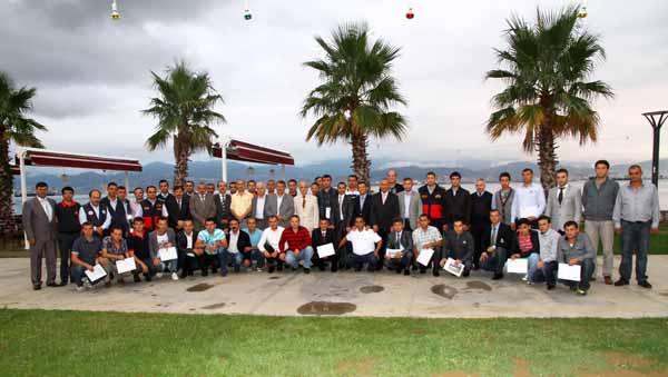 23'üncü grup itfaiyecileri sertifikalarını aldı!
