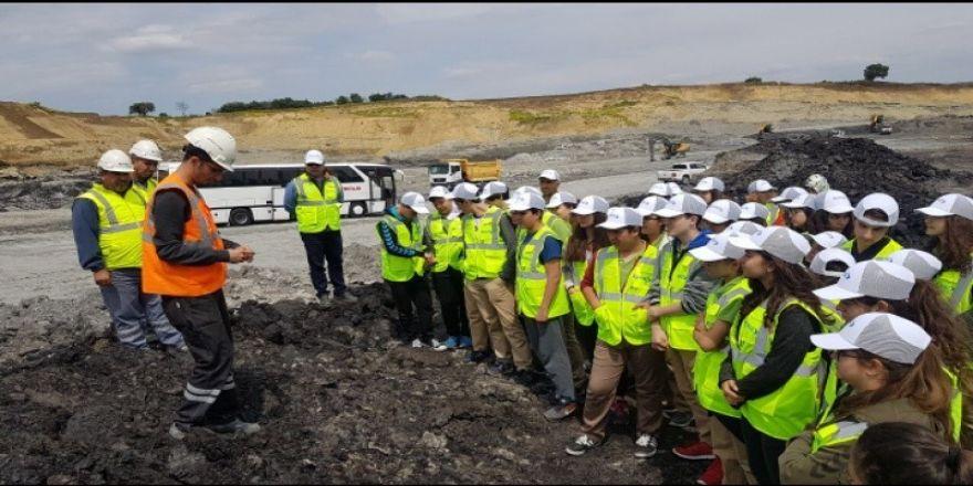 Öğrenciler Madencilik Mesleğini İnceledi
