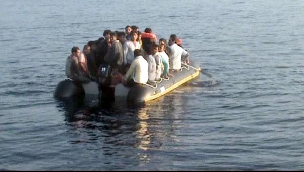 Benzini biten mülteciler yakalandı!