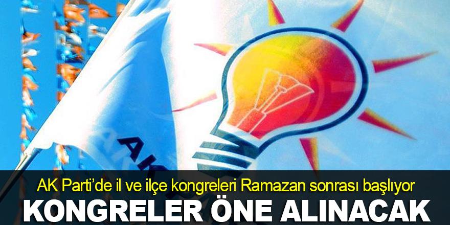 AK Parti'de kongreler öne alınacak