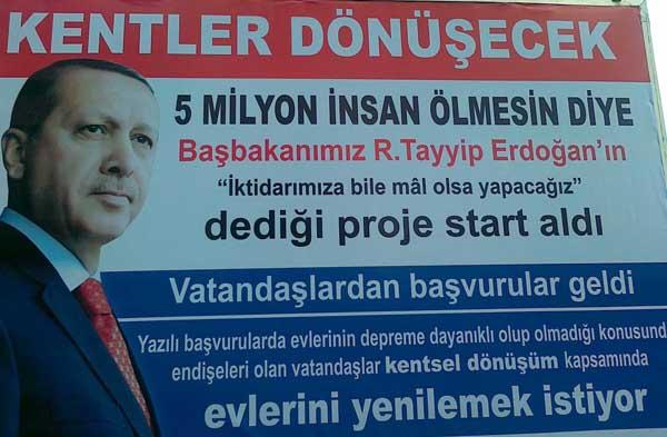 Başbakan'ın afişleri toplatıldı!